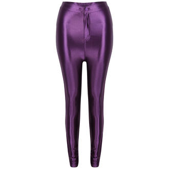 View Item Purple Shiny High Waisted Disco Pants